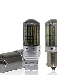 cheap -2PCS canbus T20 LED 7440 W21W 1156 P21W LED BA15S PY21W BAU15S 144smd car led Bulbs lamp For Turn Signal Light brake light No error