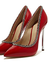 cheap -Women's Heels Stiletto Heel Pointed Toe Patent Leather Spring &  Fall Black / Red