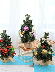 abordables -3pcs arbre de noël 22cm nouvel an décoration de table mini arbre de noël décoration arbre