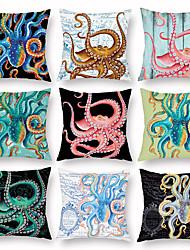 abordables -décoration de taie d'oreiller de poulpe de noël taie d'oreiller sous-marin monde marin décoration de pieuvre de la maison