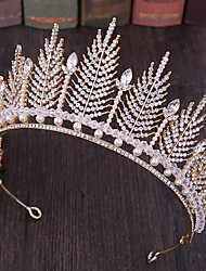 cheap -Alloy Tiaras / Headpiece with Crystal / Rhinestone / Metal 1 Piece Wedding Headpiece