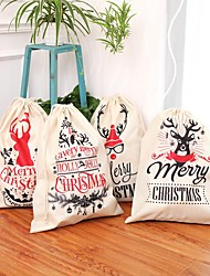 cheap -1pcs Christmas-Sack Santa Deer Cordon Santa Bag New Year Christmas Home Decorations Stockings Gift Bag