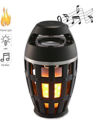 cheap -1pcs Flame Atmosphere Lamp Light Bluetooth Speaker Portable Wireless Stereo Speaker With Music Bulb Outdoor Camping