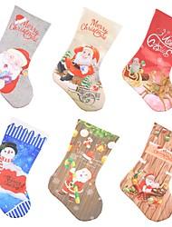 Недорогие -Рождественские носки украшение камина отель бар вечеринка торговый центр кулон