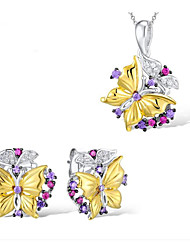 cheap -Women's Cubic Zirconia Bridal Jewelry Sets Geometrical Butterfly Fashion Earrings Jewelry Gold For Party Daily 1 set