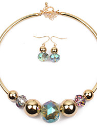 cheap -Women's Crystal Bridal Jewelry Sets Layered Love Statement Colorful Earrings Jewelry Gold For Wedding Party 1 set