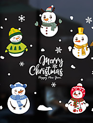cheap -Christmas Snowman Window Film &ampampamp Stickers Decoration Animal / Patterned Holiday / Character / Geometric PVC(PolyVinyl Chloride) Window Sticker