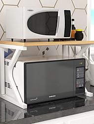 Недорогие -органайзер для хранения столешницы на кухне, 2-х уровневая полка для хранения над микроволновой печью с 3 крючками, экономия места, прочная белая нержавеющая сталь