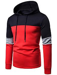 cheap -Men's Hoodie Color Block Hooded Casual / Basic Red Gray US32 / UK32 / EU40 US34 / UK34 / EU42 US36 / UK36 / EU44 US38 / UK38 / EU46 US40 / UK40 / EU48