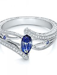 cheap -Women's Ring 1pc Light Blue Dark Blue Rhinestone Alloy irregular Trendy Fashion Cute Gift Daily Jewelry Classic Lucky