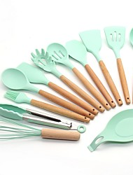 cheap -Kitchen Utensils Set Silicone,  Nonstick Cookware, Heat Resistants, BPA Free and Non Toxic, Silicone Spatula set, Cooking utensils, Best Kitchen Tools - The Bless Home