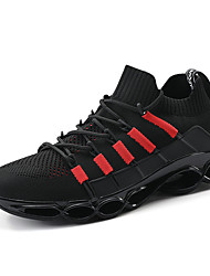 cheap -Men's Tissage Volant Fall / Spring & Summer Sporty / Casual Athletic Shoes Running Shoes / Fitness & Cross Training Shoes Breathable Black / Black / Red / Red