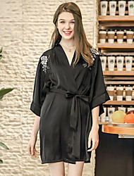 cheap -Normal POLY Robes Gender Neutral Embroidered Wedding Cinch Cord Wedding