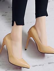 cheap -Women's Heels Stiletto Heel Peep Toe Rubber / Pigskin Spring Black / Almond / White