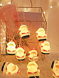 cheap -Christmas Decoration 20pcs Mini LED Santa Claus 3M String Lights for Christmas Gift Bedroom Stairs New Year Holidays Ornament 1 Set Battery Powered 5V