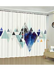 cheap -Simple Wind Decoration Curtain Digital Printing 3D Curtain Geometric Reflection Shading Curtain High Precision Black Silk Cloth High Quality First-class Shading Bedroom Curtain