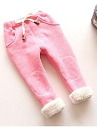 abordables -bébé Fille Basique Couleur Pleine / Imprimé Coton Leggings Gris Clair / Bébé