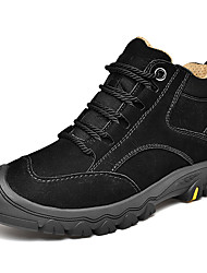 cheap -Men's Comfort Shoes Nappa Leather Winter / Fall & Winter Sporty / Casual Athletic Shoes Hiking Shoes / Walking Shoes Breathable Black / Brown