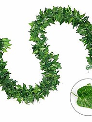 cheap -Ivy Leaf Garland Fairy Lights 2M 20Leds Ivy Leaves Fairy Led String LightsGarland Wedding Home Decoration Mini Led Copper Lights (Come Without Battery)