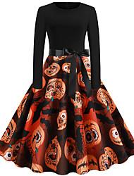 cheap -Audrey Hepburn Dress Adults' Women's Retro Vintage Halloween Halloween Festival / Holiday Polyester Black Women's Carnival Costumes
