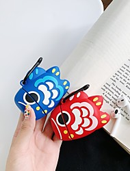 cheap -Cartoon Koi Airpods1/2 Generation Wireless Bluetooth Headset Set Silicone Case Personality Cover For Men and Women