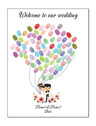 cheap -Personalized Bride & Groom Fingerprint Wedding Guest Book Wedding Decoration Mariage Gastenboek All for Wedding