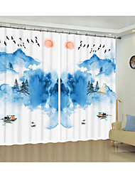 cheap -Landscape Creative Painting Design Digital Printing 3D Curtain Shading Creative Curtain High Precision Black Silk Fabric High Quality First Class Shading Curtain