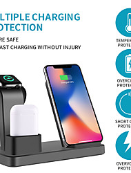 cheap -Wireless Charger Multi-function 3 in 1 iPhone iWatch Air Pods Pro Wireless Dock Fast Charger Station for Apple iPhone 12 Pro 11 XS Max XR/ iWatch 6 5 4 3/Samsung S21Ultra S20Plus Xiaomi Huawei Oneplus