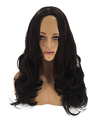cheap -Synthetic Wig Cosplay Wig Curly Matte Body Wave Middle Part Wig Long Dark Brown Synthetic Hair 26inch Women's Cosplay Soft Adjustable Black Brown / Heat Resistant / African American Wig