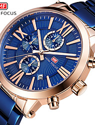 cheap -Men's Dress Watch Quartz Formal Style Modern Style Black / Blue 30 m Water Resistant / Waterproof Casual Watch Large Dial Analog Classic Fashion - Black Gold Blue