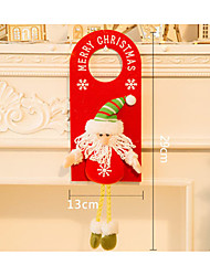 cheap -Christmas Cards and Tags Christmas Decorations Snowman Textile Wooden Adults' Toy Gift