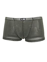 cheap -Men's Mesh Boxers Underwear / Boxer Briefs - Asian Size 1 Piece Low Waist Black White Purple M L XL