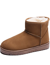 cheap -Women's Boots Snow Boots Flat Heel Round Toe Tassel Satin Booties / Ankle Boots Casual Walking Shoes Fall & Winter Black / Brown / Pink