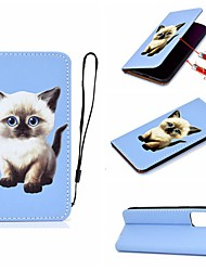 cheap -Case For Apple iPhone 11 / iPhone 11 Pro / iPhone 11 Pro Max Card Holder / with Stand / Flip Full Body Cases Cat PU Leather