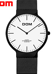 cheap -Men's Steel Band Watches Japanese Japanese Quartz Stainless Steel Black / Silver 30 m Water Resistant / Waterproof Creative New Design Analog Casual - Black Black / White White Two Years Battery Life