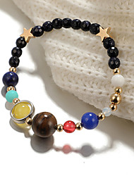 cheap -Ankle Bracelet Classic Boho Vintage Women's Body Jewelry For Daily Holiday Beaded Alloy Star Weave Black 1pc