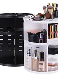 cheap -360 Degree Rotating dressing case Plastic Makeup Cosmetics Storage Box Skin Care Products Storage Rack