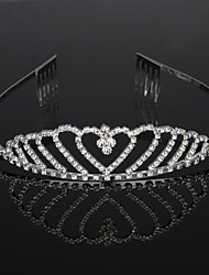 cheap -Cubic Zirconia / Rhinestone / Alloy Tiaras / Headbands / Headdress with Rhinestone / Crystal / Crystals / Rhinestones 1 Piece Wedding / Birthday Headpiece