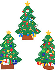 cheap -DIY Felt Christmas Tree with Ornaments Children Christmas Gifts