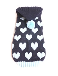 cheap -Dog Sweater Puppy Clothes Love Casual / Daily Warm Ups Winter Dog Clothes Puppy Clothes Dog Outfits Blue Pink Costume for Girl and Boy Dog Acrylic Fibers XS S M L XL XXL