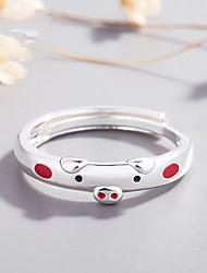 Недорогие -Для пары Открытое кольцо 1шт Темно-красный Розовый Сплав Повседневные Бижутерия Очаровательный