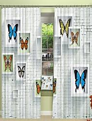 abordables -papillon spécimen impression numérique 3d rideau rideau d'ombrage haute précision noir tissu de soie rideau de haute qualité