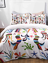 cheap -Duvet Cover Sets Animal / Cartoon Polyester / Polyamide Reactive Print / Printed 3 PieceBedding Sets