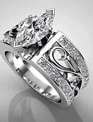 cheap -Women's Ring 1pc Silver Imitation Diamond Alloy irregular Classic Trendy Korean Daily School Jewelry Classic Lucky