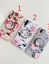 cheap -Case For Huawei Huawei P20 / Huawei P20 Pro / Huawei P20 lite with Stand / IMD / Frosted Back Cover Flower TPU