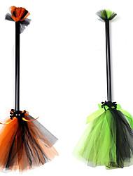 Недорогие -ведьма Метлы для ведьм Товары для Хэллоуина Муж. Хэллоуин Хэллоуин Фестиваль / праздник Пластик Тюль Оранжевый / Зеленый Муж. Жен. Карнавальные костюмы