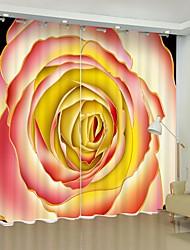 cheap -White Rose Digital Printing 3D Curtain Shading Curtain High Precision Black Silk Fabric High Quality Curtain