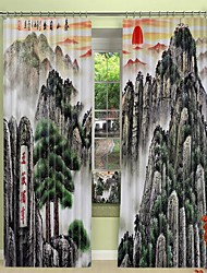 cheap -Taishan Digital Printing 3D Curtain Shading Curtain High Precision Black Silk Fabric High Quality Curtain