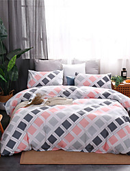 cheap -Duvet Cover Sets Ultra Soft Polyester/ Polyamide Plaid/ Checkered Printed 3 Piece Bedding Sets