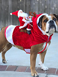 cheap -Dog Coat Christmas Cool Christmas Outdoor Winter Dog Clothes Costume Acrylic Fibers Cotton XL